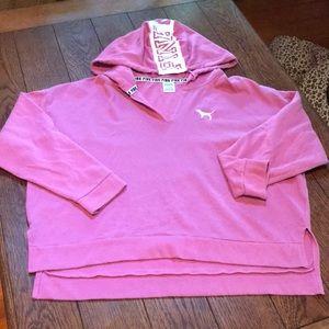 Pink lightweight hoodie
